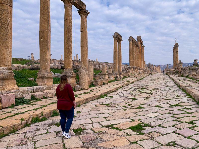 Visitar Jerash: Cardo Maximus
