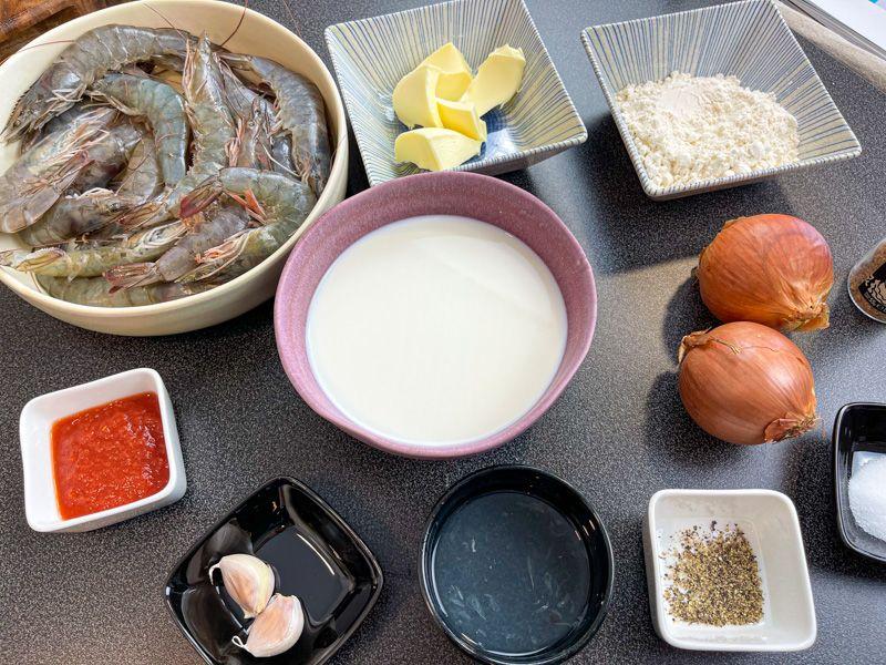 Receta de rissois de gambas: ingredientes para el relleno