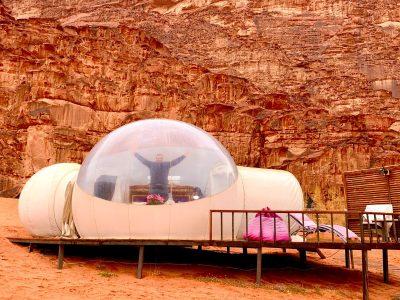 Dormir en una burbuja en Wadi Rum: TODO lo que tienes que saber