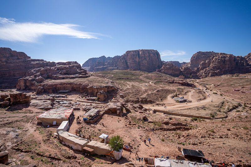 Qué ver en Petra: vistas desde las Tumbas Reales