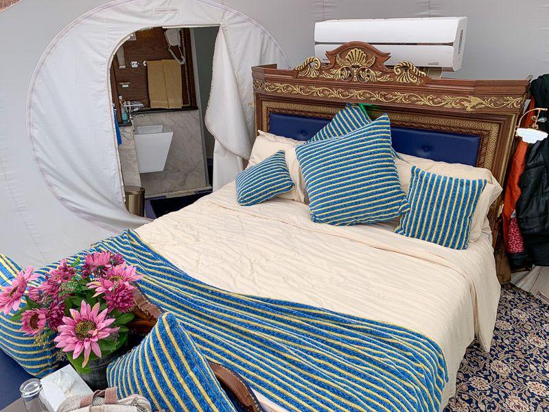Dormir en una burbuja en Wadi Rum: así era nuestra burbuja por dentro