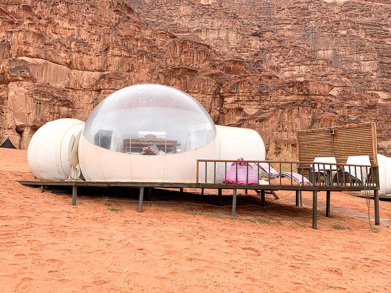 Dormir en una burbuja en Wadi Rum: así era nuestra burbuja