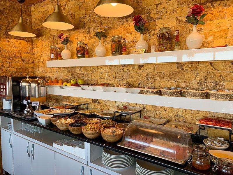 Dónde dormir en Petra: el desayuno del hotel