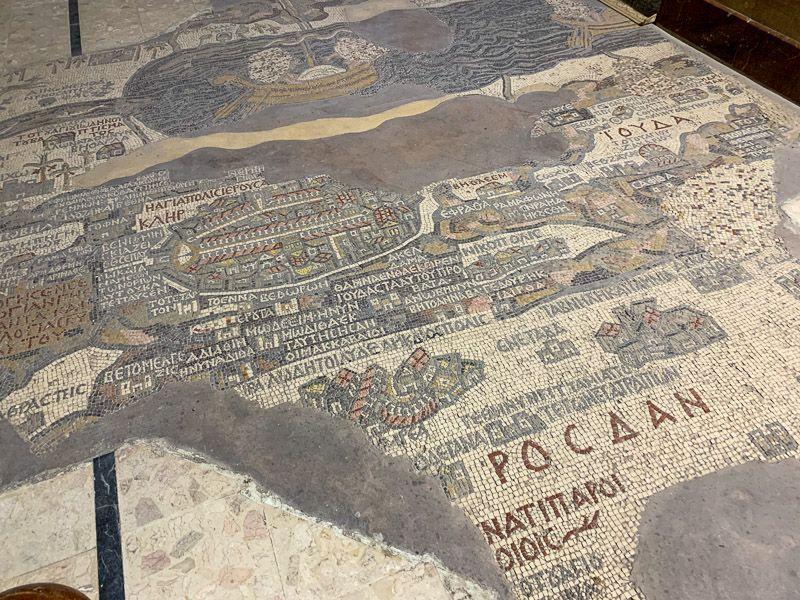 Carretera del Rey en Jordania: mapa de Madaba