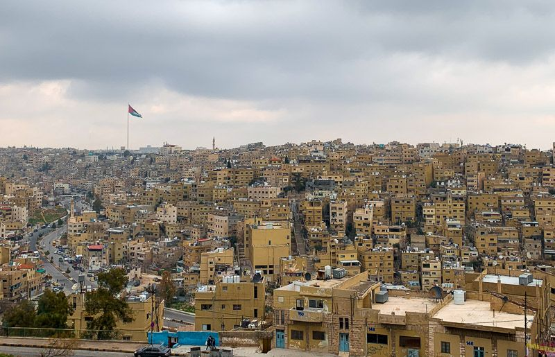 Qué ver en Ammán: vistas desde la ciudadela de Ammán