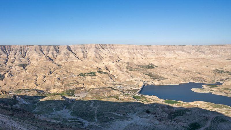 Carretera del Rey en Jordania: presa de Mujib