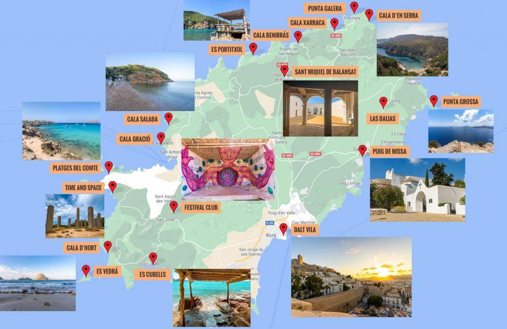 Mapa de Ibiza [QUÉ VER + PUNTOS DE INTERÉS]