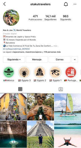 Las 10 mejores cuentas de Instagram de viajes: Otakutravelers