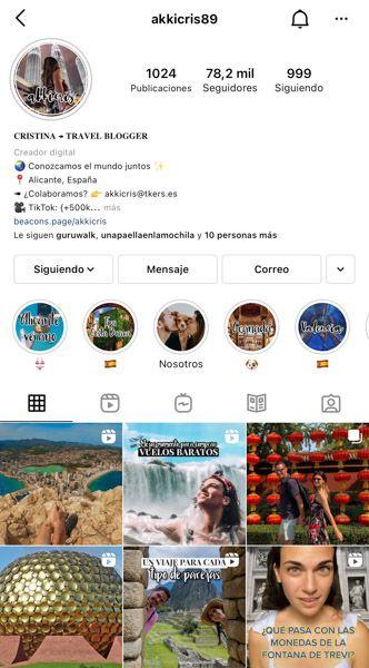 Las 10 mejores cuentas de Instagram de viajes: Akkicris89